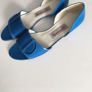 Pappagallo Bold Blue Flats With Buckle Trim Sz 8